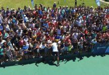 Mille persone per l'allenamento di Juan Martin Del Potro nel segno della solidarietà