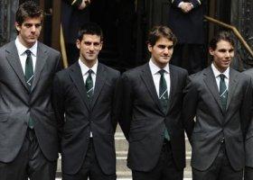 Del Potro, Djokovic, Federer e Nadal.