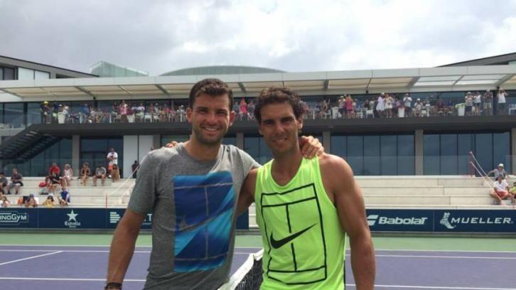 Grigor Dimitrov e Rafael Nadal nella foto