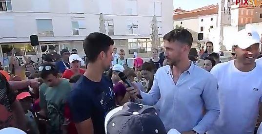 Novak Djokovic insieme a Dimitrov venerdì scorso a Zara
