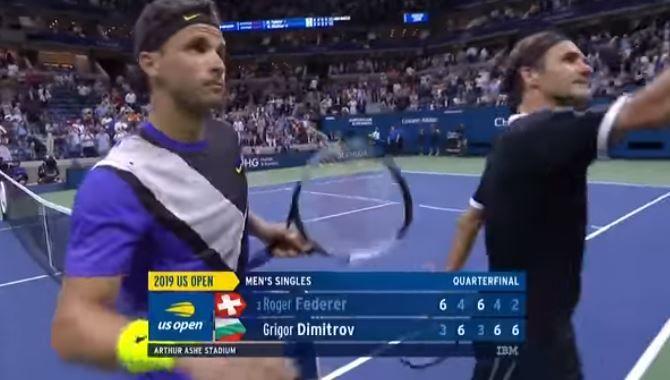 Grigor Dimitrov vittorioso su Roger Federer