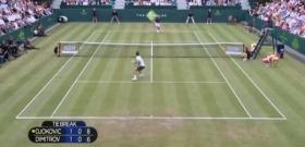 Scambio spettacolare tra Djokovic e Dimitrov in esibizione