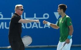 Becker e Djokovic nella foto