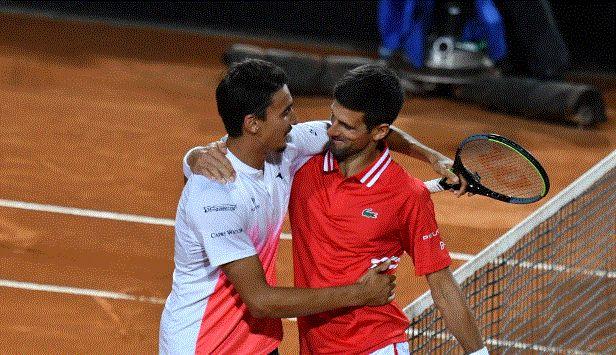 Novak Djokovic e Lorenzo Sonego - Foto Fioriti