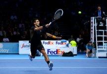 Masters Cup Londra: Novak Djokovic batte Roger Federer e conquista la sua seconda Masters Cup