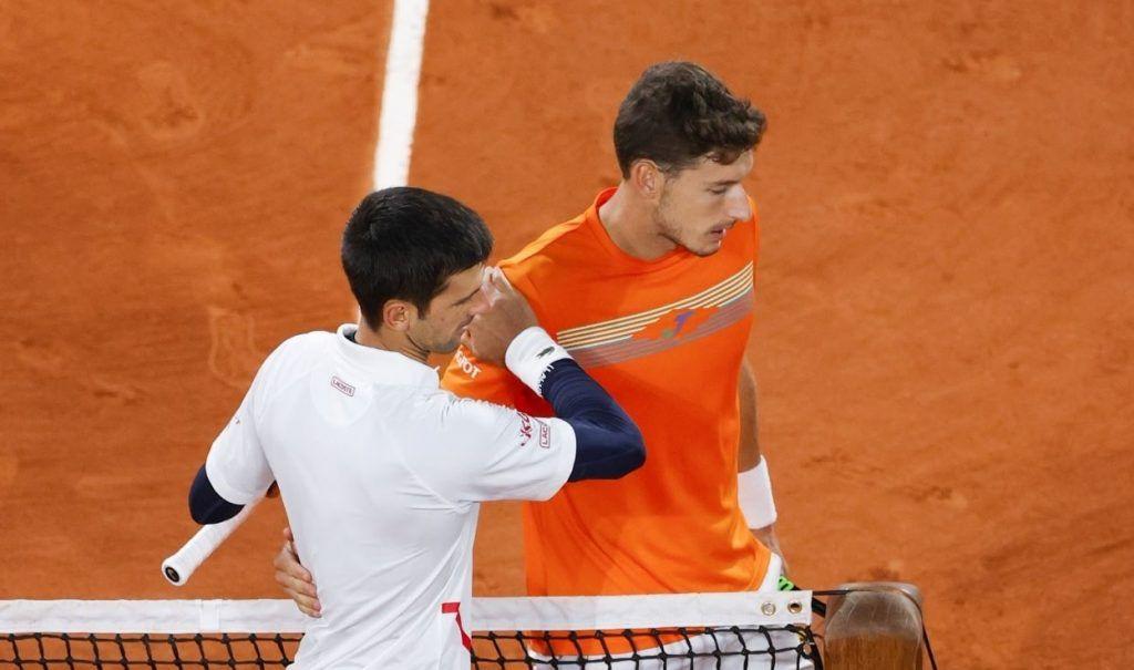 Novak Djokovic e Pablo Carreno Busta nella foto