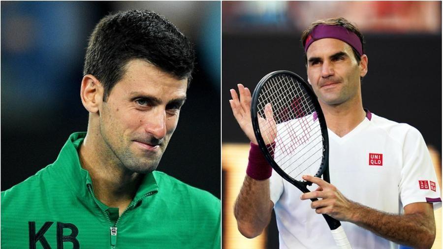 Novak Djokovic e Roger Federer nella foto