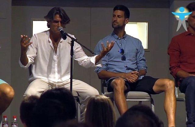Novak Djokovic e Pepe Imaz