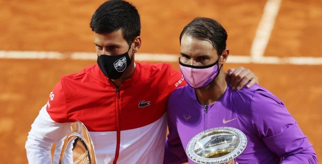 Rafael Nadal con Novak Djokovic