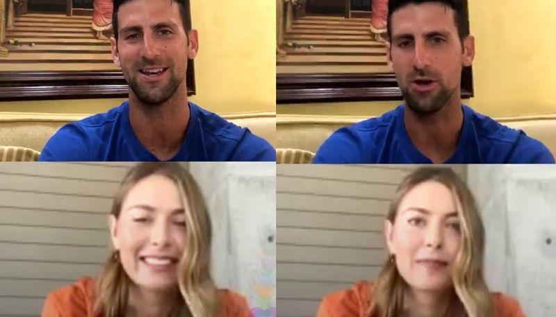 Novak Djokovic e Maria Sharapova nella foto