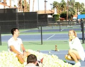Novak Djokovic e Maria Sharapova