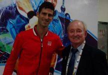 Novak Djokovic e la foto con Rod Laver