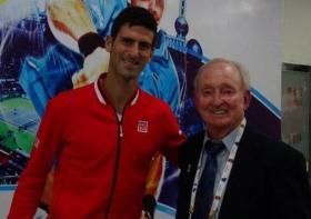 Novak Djokovic e Rod Laver