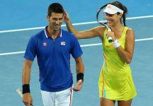 """Novak Djokovic parla di Ana Ivanovic: """"Mi sono emozionato quando ho visto il suo video su Facebook. Avevo le lacrime agli occhi"""""""