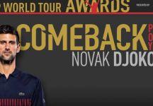 ATP Awards 2018: Novak Djokovic sugli scudi. Rafael Nadal beffa Roger Federer come sportivo dell'anno