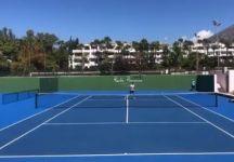 Video del Giorno: Il gran tweener di Alejandro Davidovich mentre si allena con Novak Djokovic