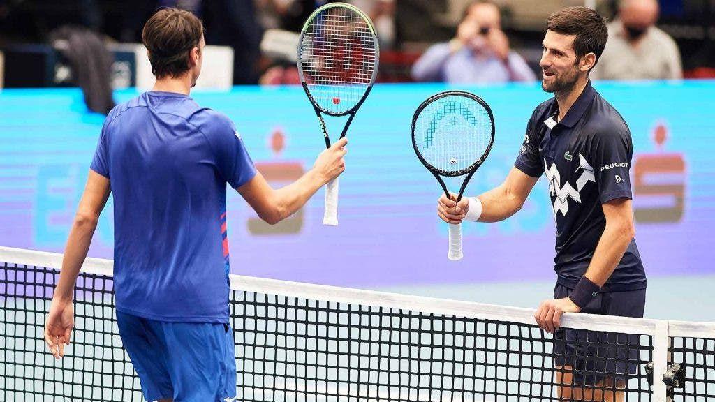Novak Djokovic e Lorenzo Sonego a Vienna