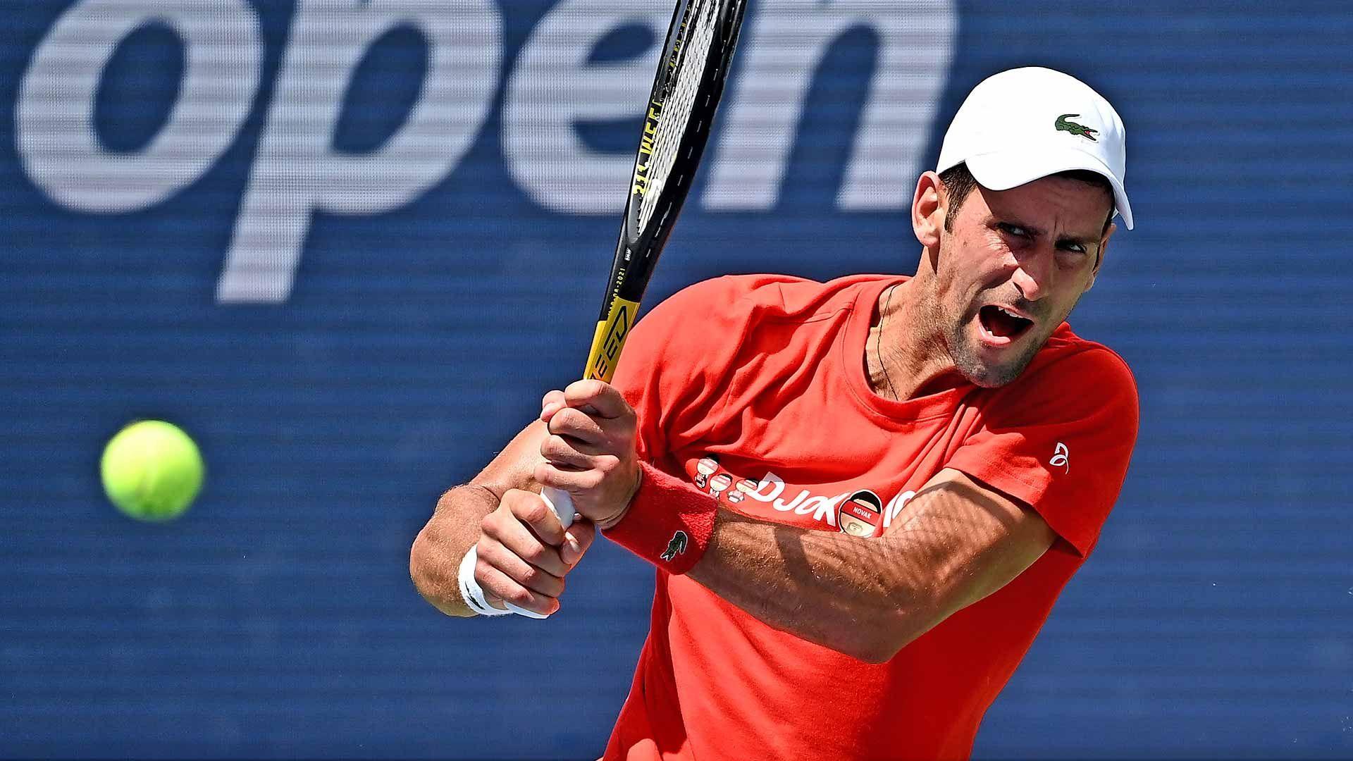 Djokovic in allenamento a New York 2021