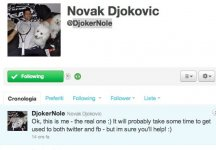 Novak Djokovic ha aperto ufficialmente un account twitter