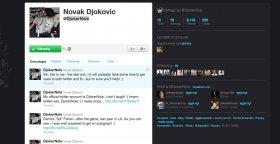 L'account twitter di Novak Djokovic.