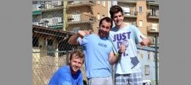 Matteo Donati insieme ad Andrey Golubev e Marco Gualdi