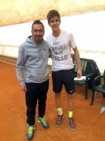 Armando Zanotti, capitano del Tc Crema, insieme a Matteo Donati, a segno in doppio nella quinta giornata di A1 contro Bassano (Vicenza)