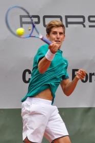 Matteo Donati, alessandrino classe 1995, ha iniziato bene la sua Serie A1 sconfiggendo in due set l'ex top 30 Potito Starace (foto GAME)