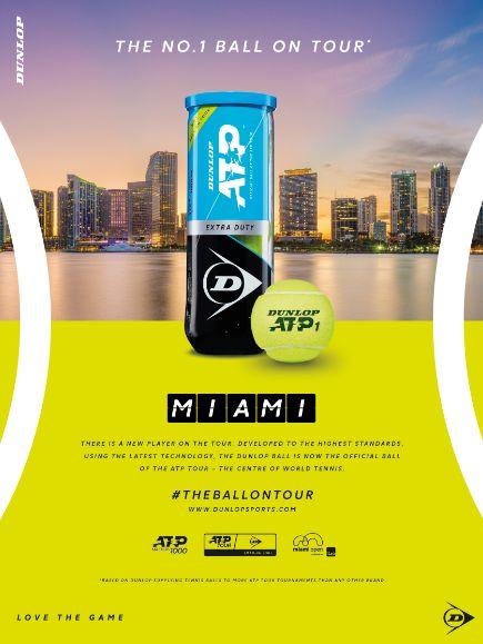 Il Miami Open sceglie Dunlop