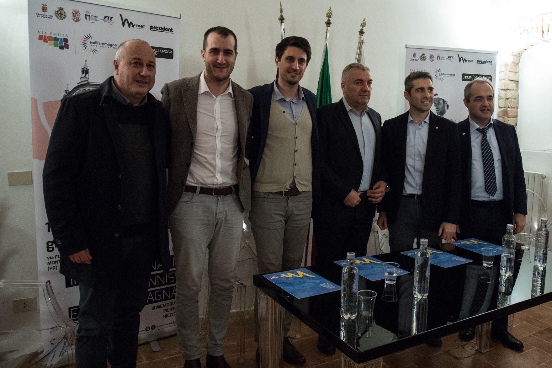 """presentazione della II edizione del torneo ATP Challenger """"Internazionali di Tennis Emilia Romagna"""""""