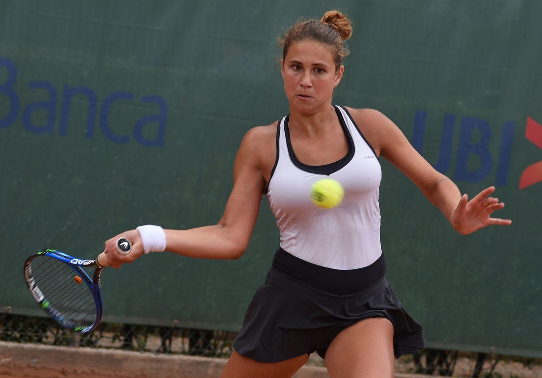 La piemontese Enola Chiesa, 17 anni, al 3° turno di qualificazione ha battuto la spagnola Laia Conde Monfort - Foto Game