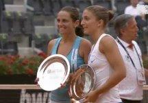 WTA Roma: Doppio. Dopo 27 anni una coppia interamente italiana vince il torneo di doppio. Errani e Vinci riescono nell'impresa e si aggiudicano il torneo (Video ultima fase del match e premiazione)