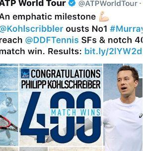 Anche l'ATP sbaglia sull'incontro tra Murray e Kohlschreiber