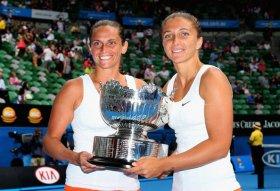 Sara Errani e Roberta Vinci al terzo titolo Slam in carriera nel doppio