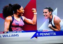 Piccola gaffe di Eurosport. Nel promo per la finale femminile degli Us Open, Flavia Pennetta sfida.. Serena Williams!