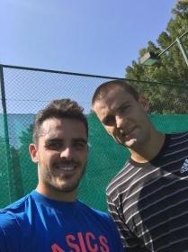 Thomas Fabbiano con Mikhail Youzhny