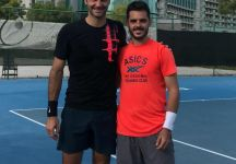 Thomas Fabbiano si allena con Roger Federer a Dubai