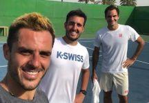 Fabbiano si allena con Federer a Dubai