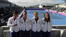 La squadra italiana di Fed Cup - Foto Tonelli