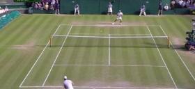 Il fanstatico decimo game tra Federer e Murray a Wimbledon