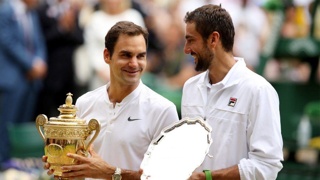 Roger Federer e Marin Cilic nella foto