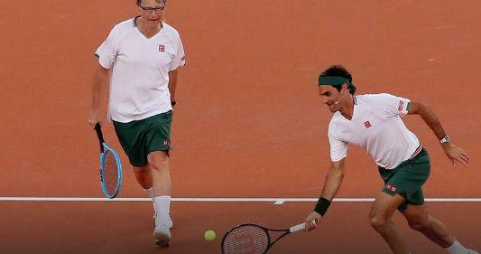Roger Federer con Bill Gates