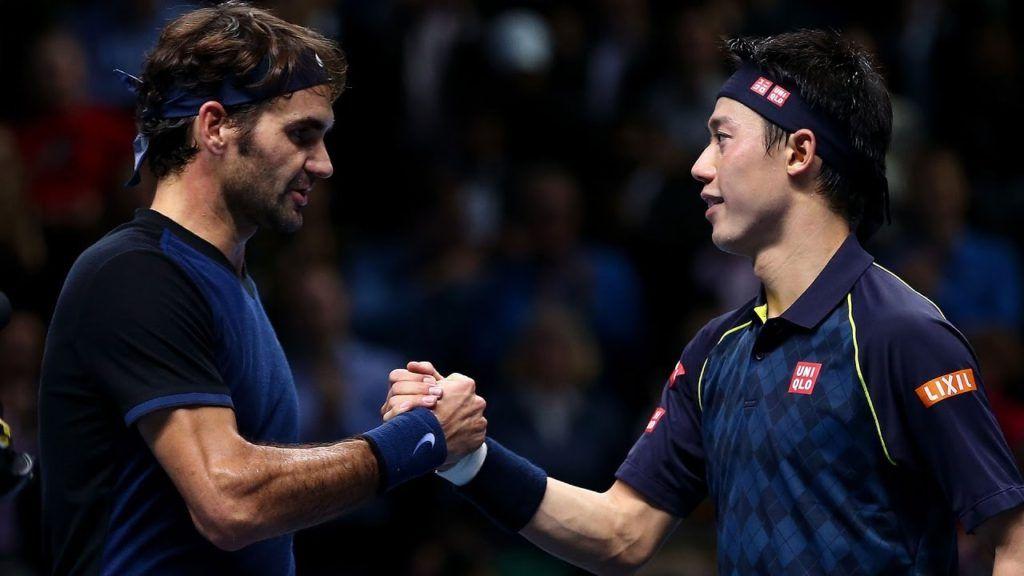 Kei Nishikori e Roger Federer