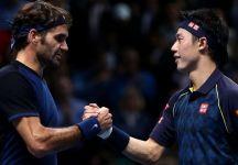 Kei Nishikori spera in un doppio con Roger Federer