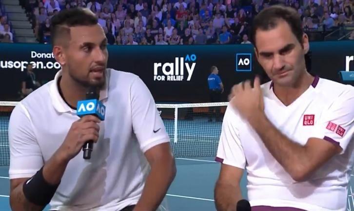 Roger Federer e Nick Kyrgios nella foto