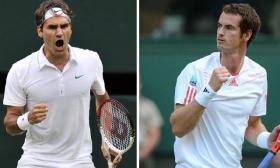 Roger Federer e Andy Murray nella foto