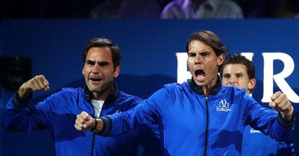 Roger Federer e Rafael Nadal nella foto