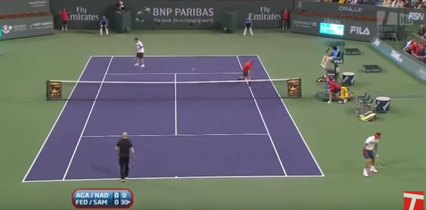 "10 anni fa il ""super doppio"" Federer - Sampras vs. Nadal - Agassi (video integrale)"