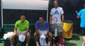Dominic Thiem e Roger Federer