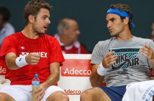 Roger Federer e Stan Wawrinka nella foto