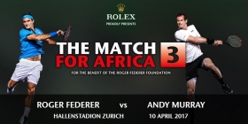 "Roger Federer sfiderà Andy Murray per l'esibizione ""Match for Africa"""